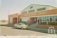 "<span class=""caption-caption"">Winton Shire Council</span>, c1960. <br />Postcard folder by <span class=""caption-publisher"">Murray Views Pty Ltd</span>, collection of <span class=""caption-contributor"">Centre for the Government of Queensland MS</span>."