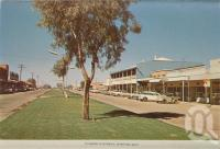 "<span class=""caption-caption"">Elderslie Street, Winton</span>, c1960. <br />Postcard folder by <span class=""caption-publisher"">Murray Views Pty Ltd</span>, collection of <span class=""caption-contributor"">Centre for the Government of Queensland MS</span>."