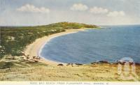 "<span class=""caption-caption"">Rose Bay Beach from Flagstaff Hill, Bowen</span>, c1955. <br />Postcard folder by <span class=""caption-publisher"">Sydney G Hughes Pty Ltd</span>, collection of <span class=""caption-contributor"">Centre for the Government of Queensland MS</span>."