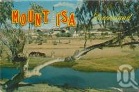 "<span class=""caption-caption"">Mount Isa</span>, c1962. <br />Postcard folder by <span class=""caption-publisher"">Sydney G Hughes Pty Ltd</span>, collection of <span class=""caption-contributor"">Centre for the Government of Queensland MS</span>."