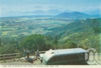 """<span class=""""caption-caption"""">Sugar cane at Redlynch from Cairns to Kuranda Range Road</span>, c1960. <br />Postcard folder by <span class=""""caption-publisher"""">Murray Views Pty Ltd</span>, collection of <span class=""""caption-contributor"""">Centre for the Government of Queensland MS</span>."""