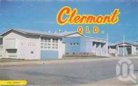 "<span class=""caption-caption"">Civic Centre, Clermont</span>, c1961. <br />Postcard folder by <span class=""caption-publisher"">Murray Views Pty Ltd</span>, collection of <span class=""caption-contributor"">Centre for the Government of Queensland MS</span>."