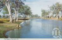 "<span class=""caption-caption"">The lagoon, Clermont</span>, c1961. <br />Postcard folder by <span class=""caption-publisher"">Murray Views Pty Ltd</span>, collection of <span class=""caption-contributor"">Centre for the Government of Queensland MS</span>."