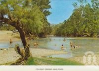 "<span class=""caption-caption"">Colledge's (Colleges) Crossing, near Ipswich</span>, c1974. <br />Postcard folder by <span class=""caption-publisher"">Sydney G Hughes Pty Ltd</span>, collection of <span class=""caption-contributor"">Centre for the Government of Queensland MS</span>."