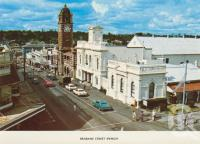 "<span class=""caption-caption"">Brisbane Street, Ipswich</span>, c1974. <br />Postcard folder by <span class=""caption-publisher"">Sydney G Hughes Pty Ltd</span>, collection of <span class=""caption-contributor"">Centre for the Government of Queensland MS</span>."