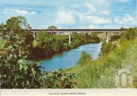 "<span class=""caption-caption"">The David Trumpy Bridge, Ipswich</span>, c1974. <br />Postcard folder by <span class=""caption-publisher"">Sydney G Hughes Pty Ltd</span>, collection of <span class=""caption-contributor"">Centre for the Government of Queensland MS</span>."