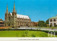 "<span class=""caption-caption"">St Mary's Roman Catholic Church, Ipswich</span>, c1974. <br />Postcard folder by <span class=""caption-publisher"">Sydney G Hughes Pty Ltd</span>, collection of <span class=""caption-contributor"">Centre for the Government of Queensland MS</span>."