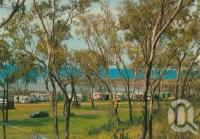 """<span class=""""caption-caption"""">Camping area, Gataker's Bay, Point Vernon</span>, 1976. <br />Postcard by <span class=""""caption-publisher"""">Murray Views Pty Ltd</span>, collection of <span class=""""caption-contributor"""">Centre for the Government of Queensland MS</span>."""