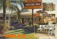 """<span class=""""caption-caption"""">Golden West Motor Inn, Miles</span>, c1980. <br />Postcard by <span class=""""caption-publisher"""">Murray Views Pty Ltd</span>, collection of <span class=""""caption-contributor"""">Centre for the Government of Queensland MS</span>."""