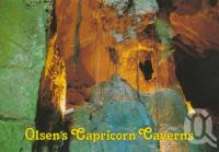 """<span class=""""caption-caption"""">Olsen's Capricorn Caves</span>, c1988. <br />Postcard by <span class=""""caption-publisher"""">Murray Views Pty Ltd</span>, collection of <span class=""""caption-contributor"""">Centre for the Government of Queensland</span>."""