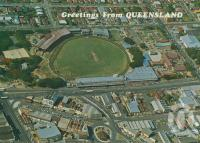 "<span class=""caption-caption"">Brisbane Cricket Ground, Woollongabba</span>, c1976. <br />Postcard by <span class=""caption-publisher"">Sandscene International</span>, collection of <span class=""caption-contributor"">Centre for the Government of Queensland</span>."