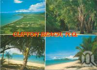 "<span class=""caption-caption"">Clifton Beach</span>, c1987. <br />Postcard by <span class=""caption-publisher"">Peer Productions</span>, collection of <span class=""caption-contributor"">Centre for the Government of Queensland</span>."