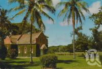 "<span class=""caption-caption"">Victoria Estate Church, Ingham</span>, c1970. <br />Postcard by <span class=""caption-publisher"">GK Bolton</span>, collection of <span class=""caption-contributor"">Centre for the Government of Queensland</span>."