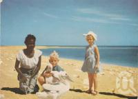 """<span class=""""caption-caption"""">Mornington Island, Gulf of Carpentaria</span>, c1965. <br />Postcard by <span class=""""caption-publisher"""">Unknown Publisher</span>, collection of <span class=""""caption-contributor"""">Centre for the Government of Queensland</span>."""