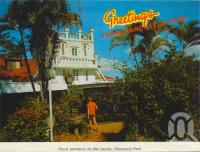 """<span class=""""caption-caption"""">Greetings from Paronella Park</span>, c1968. <br />Postcard folder by <span class=""""caption-publisher"""">Unknown Publisher</span>, collection of <span class=""""caption-contributor"""">Centre for the Government of Queensland</span>."""