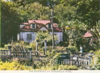 """<span class=""""caption-caption"""">The residence at Paronella Park</span>, c1958. <br />Postcard folder by <span class=""""caption-publisher"""">GK Bolton</span>, collection of <span class=""""caption-contributor"""">Centre for the Government of Queensland</span>."""