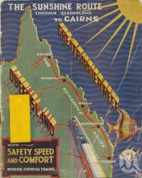 "<span class=""caption-caption"">The Sunshine Route</span>, 1936. <br />Booklet, collection of <span class=""caption-contributor"">Centre for the Government of Queensland</span>."