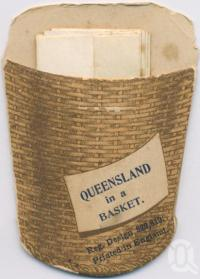"<span class=""caption-caption"">Queensland in a basket</span>, c1900. <br />Postcard, collection of <span class=""caption-contributor"">Centre for the Government of Queensland MS</span>."