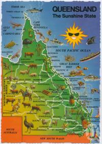 "<span class=""caption-caption"">Queensland The Sunshine State</span>, 1973. <br />Postcard, collection of <span class=""caption-contributor"">Centre for the Government of Queensland</span>."