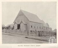"""<span class=""""caption-caption"""">One-Mile Methodist Church, Gympie</span>. <br />From <span class=""""caption-book"""">The Queenslanic</span>, <span class=""""caption-publisher"""">Methodist Book Depot</span>, 1903, collection of <span class=""""caption-contributor"""">Fryer Library, UQ</span>."""