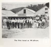 """<span class=""""caption-caption"""">The first hotel at Wolfram</span>. <br />From <span class=""""caption-book"""">Mulgrave Shire</span>, <span class=""""caption-publisher"""">Mulgrave Shire Council</span>, 1954, collection of <span class=""""caption-contributor"""">Fryer Library, UQ</span>."""