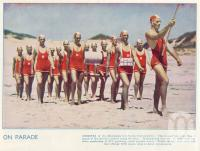 "<span class=""caption-caption"">Mooloolaba Life Saving Club march by</span>. <br />From <span class=""caption-book"">The Queenslander Annual</span>, <span class=""caption-publisher"">Queensland Newspapers</span>, 1938, collection of <span class=""caption-contributor"">Fryer Library, UQ</span>."