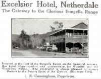 "<span class=""caption-caption"">Excelsior Hotel, Netherdale</span>. <br />From <span class=""caption-book"">The Mackay District</span>, <span class=""caption-publisher"">Queensland Government Intelligence and Tourist Bureau</span>, 1929, collection of <span class=""caption-contributor"">Fryer Library, UQ</span>."
