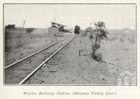 "<span class=""caption-caption"">Wowan Railway Station (Dawson Valley Line)</span>. <br />From <span class=""caption-book"">The Upper Burnett and Callide Valley Districts</span>, <span class=""caption-publisher"">Queensland Government Intelligence and Tourist Bureau</span>, 1923, collection of <span class=""caption-contributor"">Fryer Library, UQ</span>."