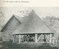 "<span class=""caption-caption"">An old sugar mill at Pimpama</span>. <br />From <span class=""caption-book"">Gold Coast: The story of the Gold Coast of Queensland and Hinterland</span>, 1958, collection of <span class=""caption-contributor"">John Young</span>."