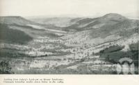 """<span class=""""caption-caption"""">From Lahey's look-out on Mount Tamborine, Canungra township nestles down below in the valley</span>. <br />From <span class=""""caption-book"""">Gold Coast: The story of the Gold Coast of Queensland and Hinterland</span>, 1958, collection of <span class=""""caption-contributor"""">John Young</span>."""