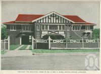 "<span class=""caption-caption"">""Delpiam""the beautiful home of Mr & Mrs A Ward, Marine Parade, Labrador</span>, 1937. <br />Booklet, collection of <span class=""caption-contributor"">John Young</span>."