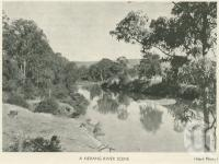 "<span class=""caption-caption"">A Nerang River Scene</span>, 1937. <br />Booklet, collection of <span class=""caption-contributor"">John Young</span>."