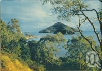 """<span class=""""caption-caption"""">Path to Paddle Bay, South Molle Island</span>, 1950. <br />Booklet, collection of <span class=""""caption-contributor"""">John Young</span>."""