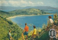 """<span class=""""caption-caption"""">Bauer's Bay, South Molle Island</span>, 1950. <br />Booklet, collection of <span class=""""caption-contributor"""">John Young</span>."""
