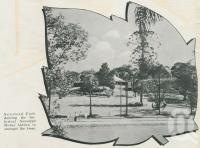 "<span class=""caption-caption"">Newstead Park showing the historical Newstead House</span>, 1949. <br />Booklet, collection of <span class=""caption-contributor"">John Young</span>."