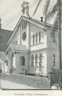 "<span class=""caption-caption"">Fortitude Valley Presbyterian Church</span>, 1949. <br />Booklet, collection of <span class=""caption-contributor"">John Young</span>."