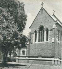 "<span class=""caption-caption"">Holy Trinity Church of England, Fortitude Valley</span>, 1949. <br />Booklet, collection of <span class=""caption-contributor"">John Young</span>."
