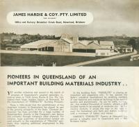 "<span class=""caption-caption"">James Hardie, Newstead</span>, 1949. <br />Booklet, collection of <span class=""caption-contributor"">John Young</span>."