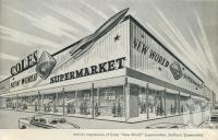 "<span class=""caption-caption"">Artist's impression of Coles New World Supermarket, Stafford</span>, 1963. <br />Journal, collection of <span class=""caption-contributor"">John Young</span>."