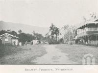 "<span class=""caption-caption"">Railway terminus, Netherdale</span>. <br />From <span class=""caption-book"">The Mackay District</span>, <span class=""caption-creator"">Queensland Government Intelligence and Tourist Bureau</span>, Brisbane, 1924, collection of <span class=""caption-contributor"">Centre for the Government of Queensland</span>."