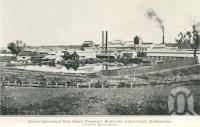 """<span class=""""caption-caption"""">Central Queensland Meat Export Company's Meatworks, Lake's Creek, Rockhampton</span>. <br />From <span class=""""caption-book"""">Queensland Sheep and Wool Industry</span>, <span class=""""caption-creator"""">Queensland Government Intelligence and Tourist Bureau</span>, Brisbane, 1918, collection of <span class=""""caption-contributor"""">Centre for the Government of Queensland</span>."""