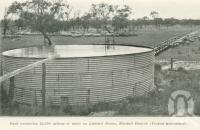 "<span class=""caption-caption"">Tank containing 24,000 gallons of water on Listowel Downs, Blackall District</span>. <br />From <span class=""caption-book"">Queensland Sheep and Wool Industry</span>, <span class=""caption-creator"">Queensland Government Intelligence and Tourist Bureau</span>, Brisbane, 1918, collection of <span class=""caption-contributor"">Centre for the Government of Queensland</span>."