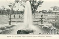 """<span class=""""caption-caption"""">Artesian Bore on Coongoola Station, Cunnamulla District</span>. <br />From <span class=""""caption-book"""">Queensland Sheep and Wool Industry</span>, <span class=""""caption-creator"""">Queensland Government Intelligence and Tourist Bureau</span>, Brisbane, 1918, collection of <span class=""""caption-contributor"""">Centre for the Government of Queensland</span>."""