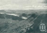 "<span class=""caption-caption"">View west to Mt Lindsay, Barney, Maroon and the Dividing Range from Moonlight Crag, Roberts Plateau, Lamington National Park</span>. <br />From <span class=""caption-book"">Queensland The Jewel of Australia</span>, <span class=""caption-publisher"">Sydney G Hughes</span>, Brisbane, c1933, collection of <span class=""caption-contributor"">Centre for the Government of Queensland</span>."