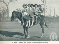"<span class=""caption-caption"">All aboard! How they go to school at Glass House Mountains</span>. <br />From <span class=""caption-book"">Queensland The Jewel of Australia</span>, <span class=""caption-publisher"">Sydney G Hughes</span>, Brisbane, c1933, collection of <span class=""caption-contributor"">Centre for the Government of Queensland</span>."