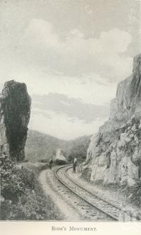 """<span class=""""caption-caption"""">Robb's monument</span>. <br />From <span class=""""caption-book"""">Tours in the Cairns District, Handbook to Cairns and Hinterland</span>, <span class=""""caption-creator"""">Queensland Railways</span>, Brisbane, 1912, collection of <span class=""""caption-contributor"""">Centre for the Government of Queensland</span>."""