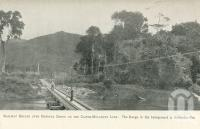 "<span class=""caption-caption"">Railway bridge over Babinda Creek on the Cairns-Mulgrave line. The range in the background is Bellenden-Ker</span>. <br />From <span class=""caption-book"">Tours in the Cairns District, Handbook to Cairns and Hinterland</span>, <span class=""caption-creator"">Queensland Railways</span>, Brisbane, 1912, collection of <span class=""caption-contributor"">Centre for the Government of Queensland</span>."
