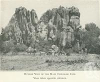 "<span class=""caption-caption"">Outside view of the main Chillagoe Cave</span>. <br />From <span class=""caption-book"">Tours in the Cairns District, Handbook to Cairns and Hinterland</span>, <span class=""caption-creator"">Queensland Railways</span>, Brisbane, 1912, collection of <span class=""caption-contributor"">Centre for the Government of Queensland</span>."
