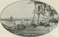 "<span class=""caption-caption"">The beach, Bowen</span>. <br />From <span class=""caption-book"">The Queen State</span>, <span class=""caption-creator"">D.C. Tilghman</span>, <span class=""caption-publisher"">John Mills</span>, Brisbane, 1933, collection of <span class=""caption-contributor"">Centre for the Government of Queensland</span>."