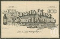 """<span class=""""caption-caption"""">Bassett's Wines, Roma</span>. <br />From <span class=""""caption-book"""">The Queen State</span>, <span class=""""caption-creator"""">D.C. Tilghman</span>, <span class=""""caption-publisher"""">John Mills</span>, Brisbane, 1933, collection of <span class=""""caption-contributor"""">Centre for the Government of Queensland</span>."""